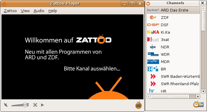 Zattoo Player (Screenshot)